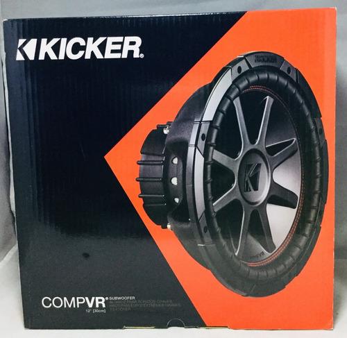 subwoofer 12 kicker cvr doble bobina compvr 43cvr124 800watt