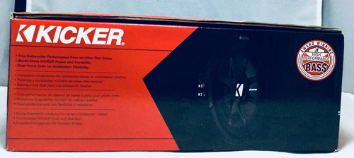 subwoofer 12 plano doble bobina 1000 watts kicker 43cwrt122