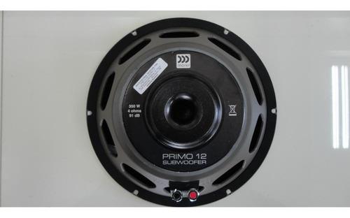 subwoofer 12 pol morel primo 350 wrms bob simples 4 ohms 124