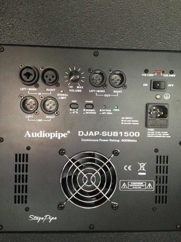 subwoofer 15  amplificado 1200 max