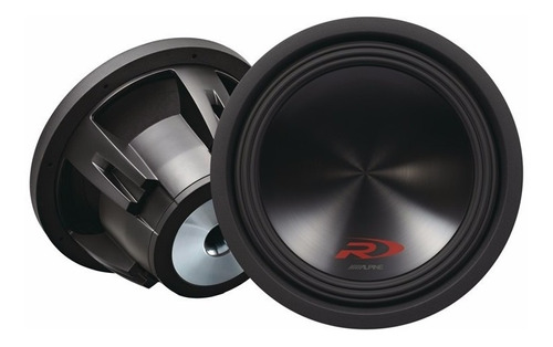 subwoofer alpine swr-12 d4 12'' - 1000 rms 4+4 audio secrets