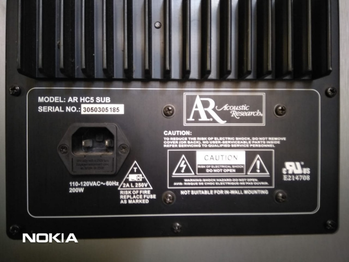Subwoofer Ativo Ar Acoustic Research 100w Rms Perfeito Est