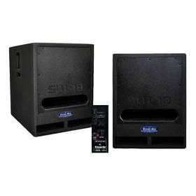 Subwoofer Ativo Fal 18 Pol 1000w Rms 4 Homs- Sw 18 Sound Box