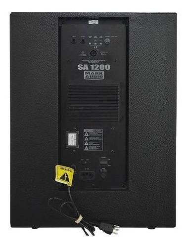 subwoofer ativo mark audio sa1200 falante 15 polegada