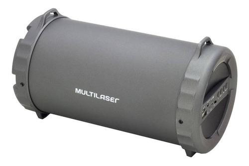 subwoofer bazooka bluetooth 20w rms preto sp233 multilaser
