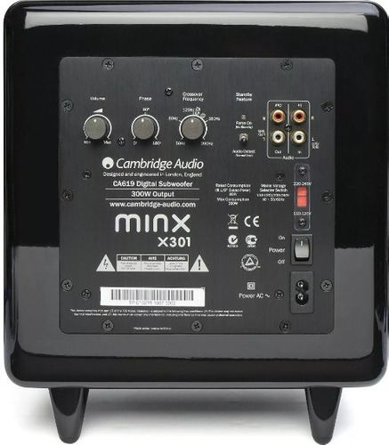 subwoofer cambridge audio minx x301 300w preto laqueado