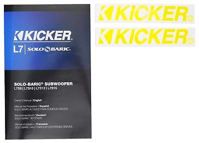 subwoofer cuadrado kicker 12l7 1500w max 12 pulgadas