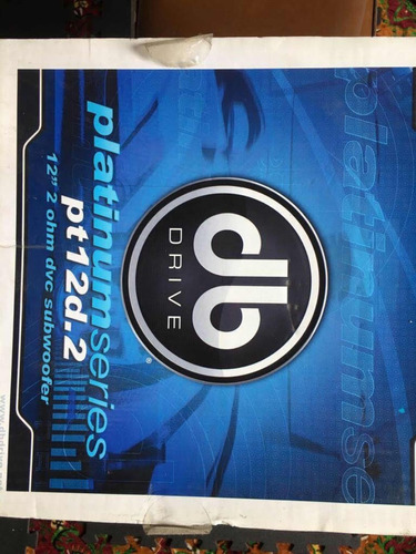 subwoofer db drive platinum series 12 750wrms zerado!!!