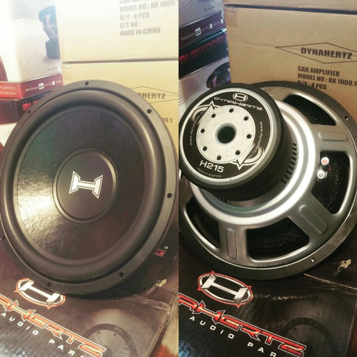 subwoofer dynahertz h215 15  800 watts rms