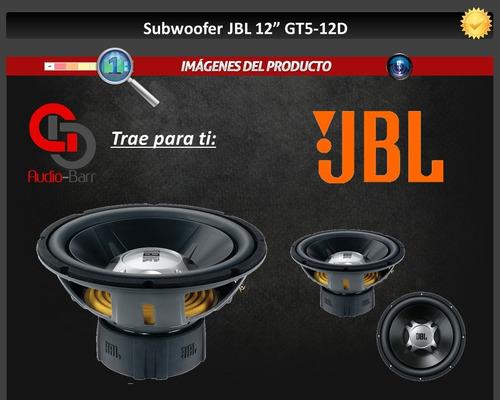 subwoofer jbl 12  gt5-12d doble bobina 1100 watts maximos