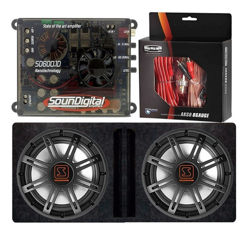 subwoofer jbl flex 15 x2 + soundigital sd600.1 + caja + kit