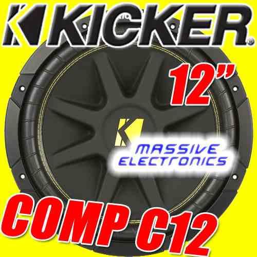 subwoofer kicker comp12 c12 p amplificador epicentro new