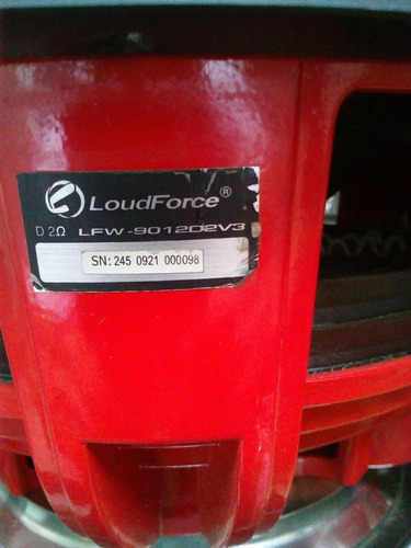 subwoofer loudforce 12  2000 rms