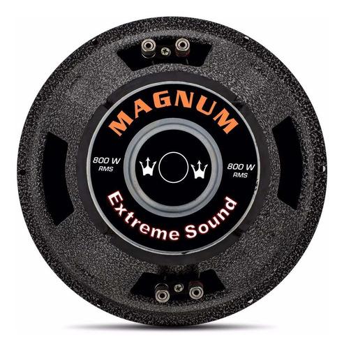 subwoofer magnum rex 12 polegadas 800w rms 4+4 bobina dupla