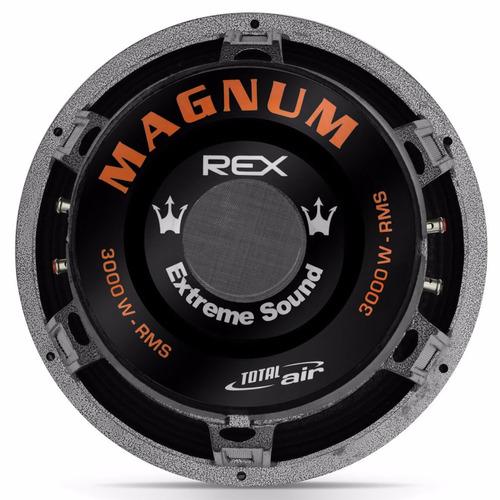 subwoofer magnum rex 15 polegadas 3000w rms falante + rca