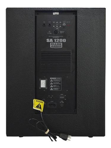 subwoofer mark audio ativo sa-1200 fal15 o f e r t a!
