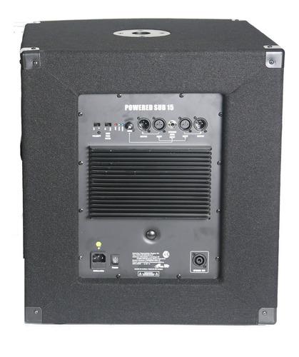subwoofer potenciado gbr 15 300watts rms activo powered cuot