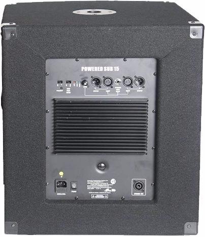 subwoofer potenciado gbr 15 300watts rms activo powered sub