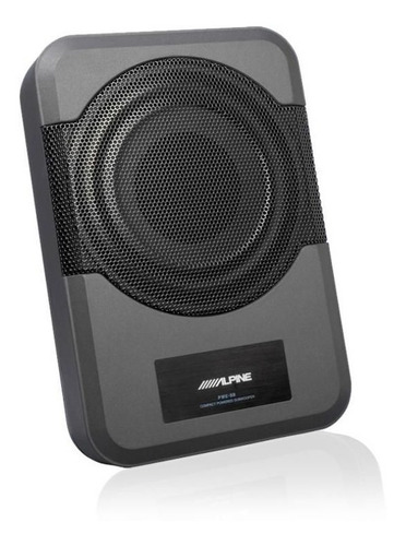 subwoofer slim potenciado alpine pwe-s8 extra chato 8 audio
