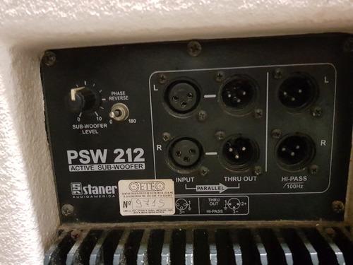 subwoofer staner psw212 branco 220w de potência