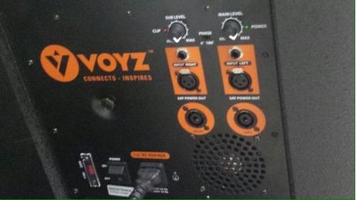 subwoofer voyz 3000w bajo 18  amplificado