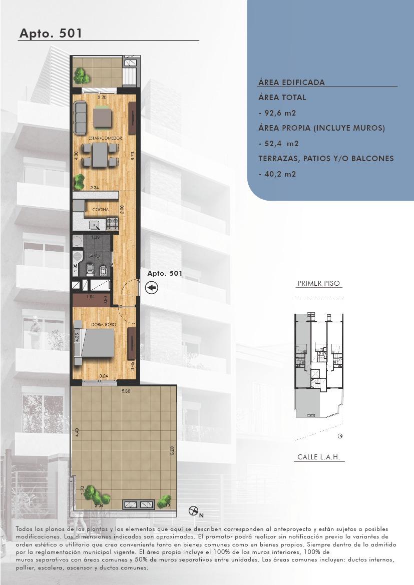 suc. pta. gorda - venta apartamento monoambiente buceo