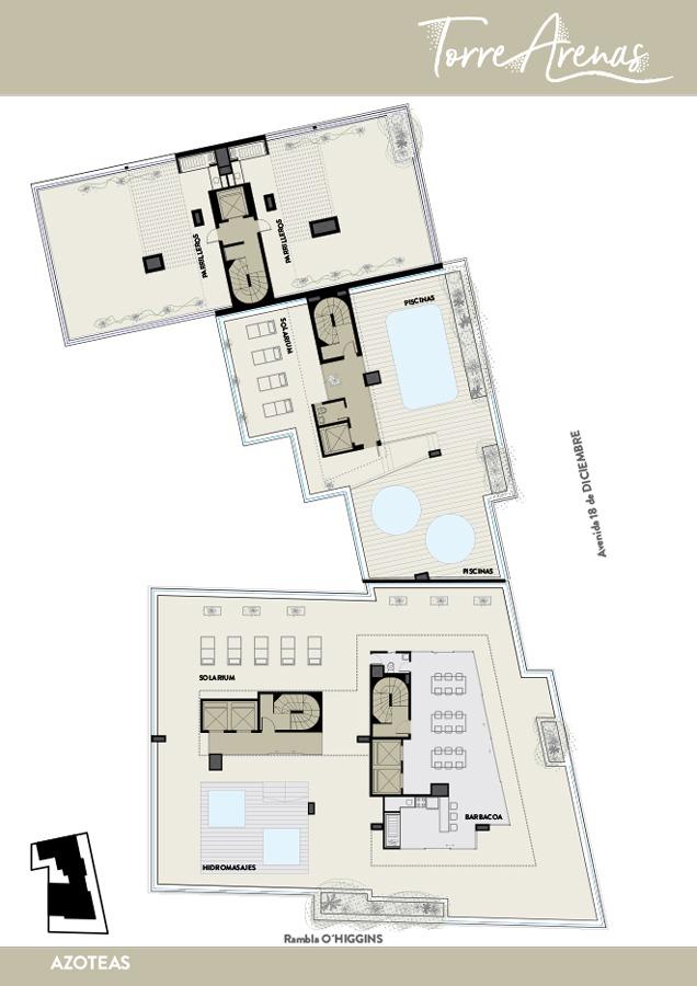 suc. pta. gorda - venta apartamento monoambiente malvin