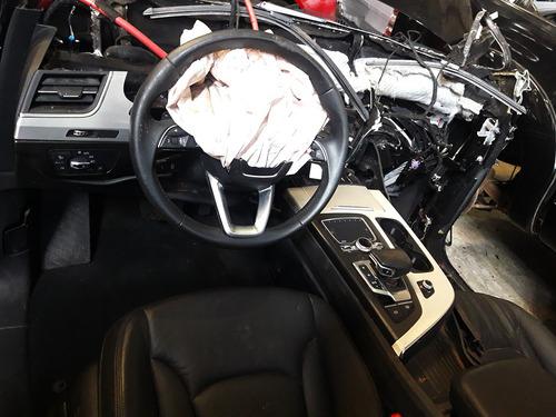 sucata audi q7 3.0 motor câmbio retrovisor tampa parachoque