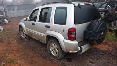 sucata batidos peças jeep cherokee sport 3.7 v6 2005/2008