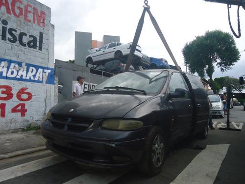 sucata chrysler caravan frente coluna caixa roda banco couro