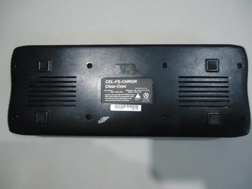 sucata clear-com cel-fs-chrgr cellcom carregador beltpack