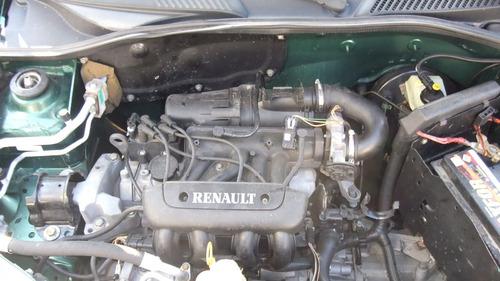 sucata clio 1.0 8v 2001 peças motor cambio acabamentos