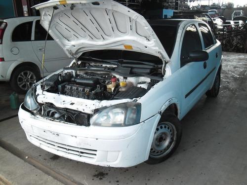 sucata corsa sedan 05 1.8 flex pra tirar peças motor capo