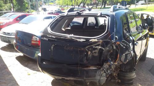 sucata de hyundai tucson 2.0 aut. - motor câmbio peças aces.
