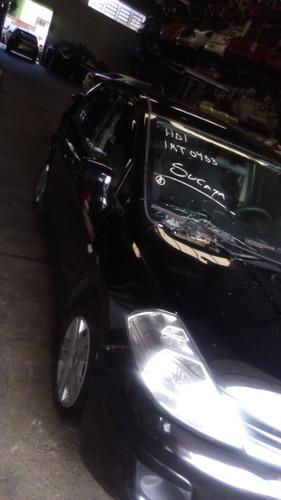 sucata de nissan tiida 1.8 sedan - motor câmbio peças
