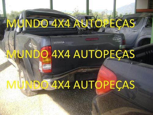 sucata  hilux srv 3.0 d 2008 com motor e cambio e peças