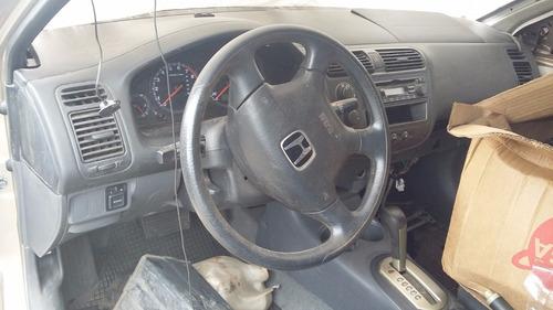 sucata honda civic 2001 1.7 gasolina automatico - rs peças
