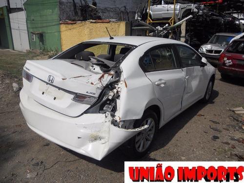 sucata honda civic automático 2014 retirada de peças