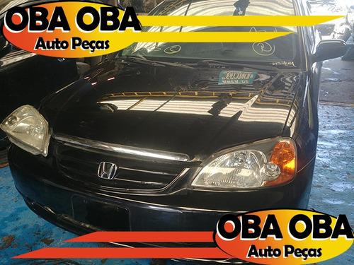 sucata honda civic lx 1.7 aut 2001/2002 para retirar peças