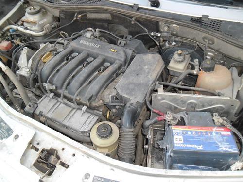 sucata logan 1.6 16v 09 pra tirar peças motor capo cambio