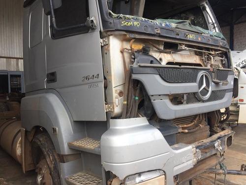 sucata mb axor 2644 aut traçado 2012 motor caixa diferencial