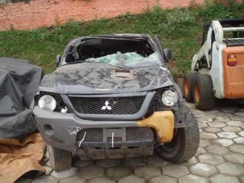sucata mitsubishi l200 hpe diesel peças motor lataria cambio