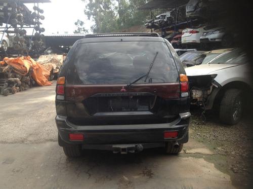 sucata mitsubishi pajero 4x4  2000/2001 diesel preta 125cvs