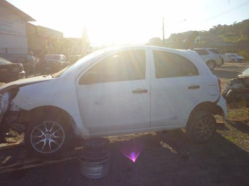 sucata nissan march 1.0 16v flex fuel 2012 vendo as peças!!
