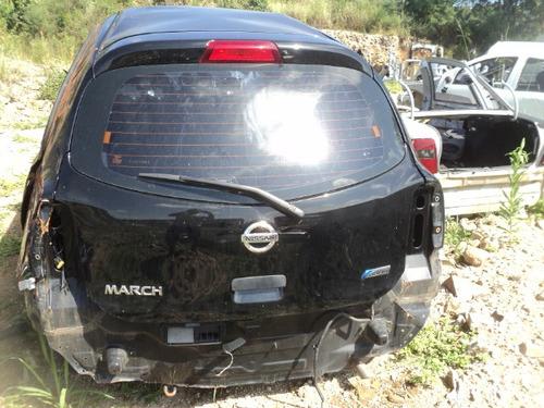 sucata nissan march 2012 1.6 flex - rs peças