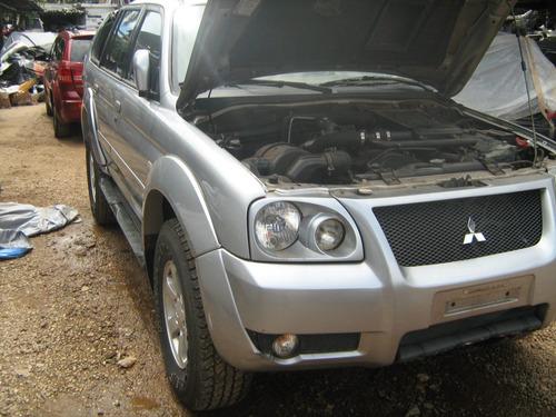 sucata pajero sport hpe 2006 / 2007 motor / caixa / lataria