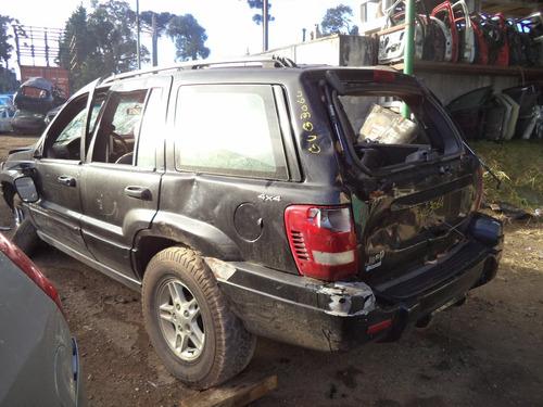 sucata peças gran cherokee laredo 5cc diesel 2000