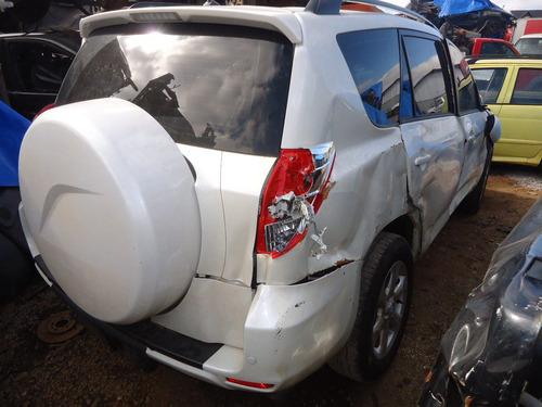 sucata peças rav 4 2.4 gas 4x2 2011 motor/cambio/airbag
