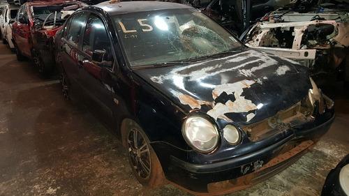 sucata polo 2004 sedan 1.6 8v completo - retirada de peças