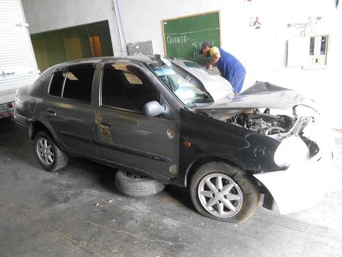sucata renault clio rt 1.6 16v 2001 motor, traseira com teto